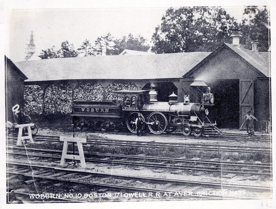 Woburn No. 10 Boston & Lowell R.R. at Ayer Junction Mass.