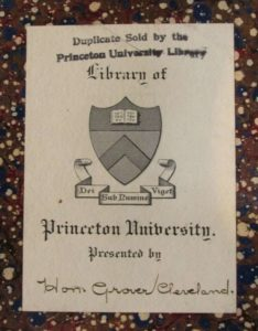 Princeton University bookplate