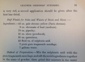 Leather worker's manual recipe, p. 51