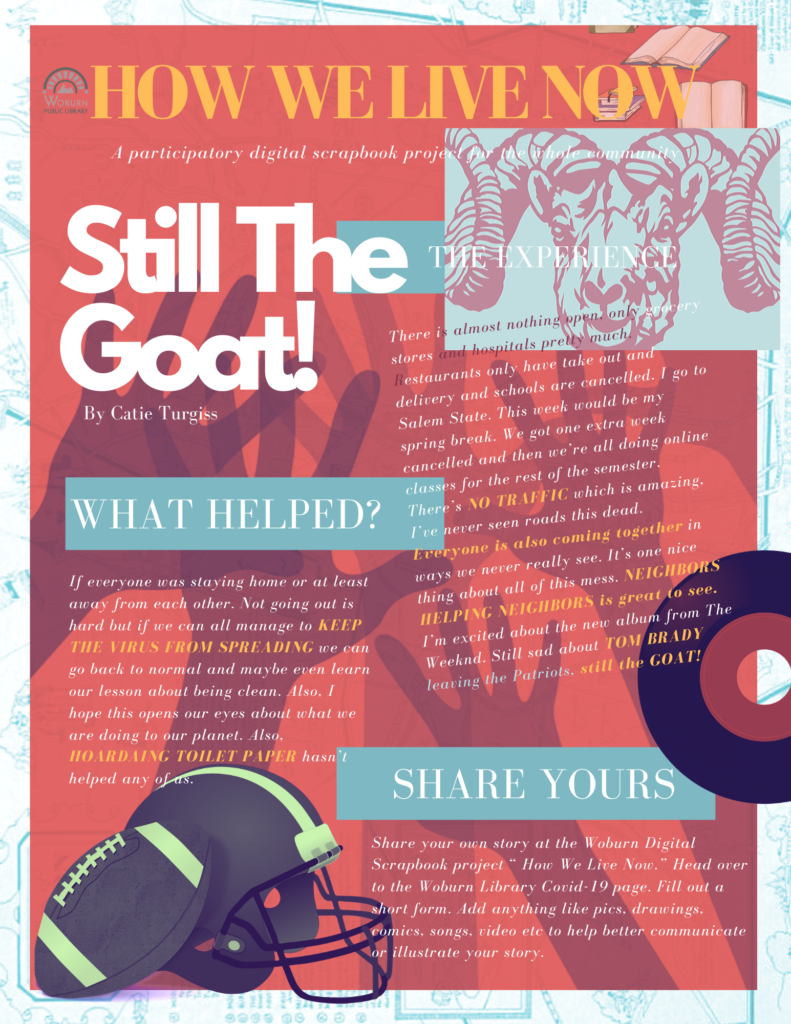 Still The Goat Exhibition entry Artwork for 2020 How We Live Now digital scrapbook online exhibition