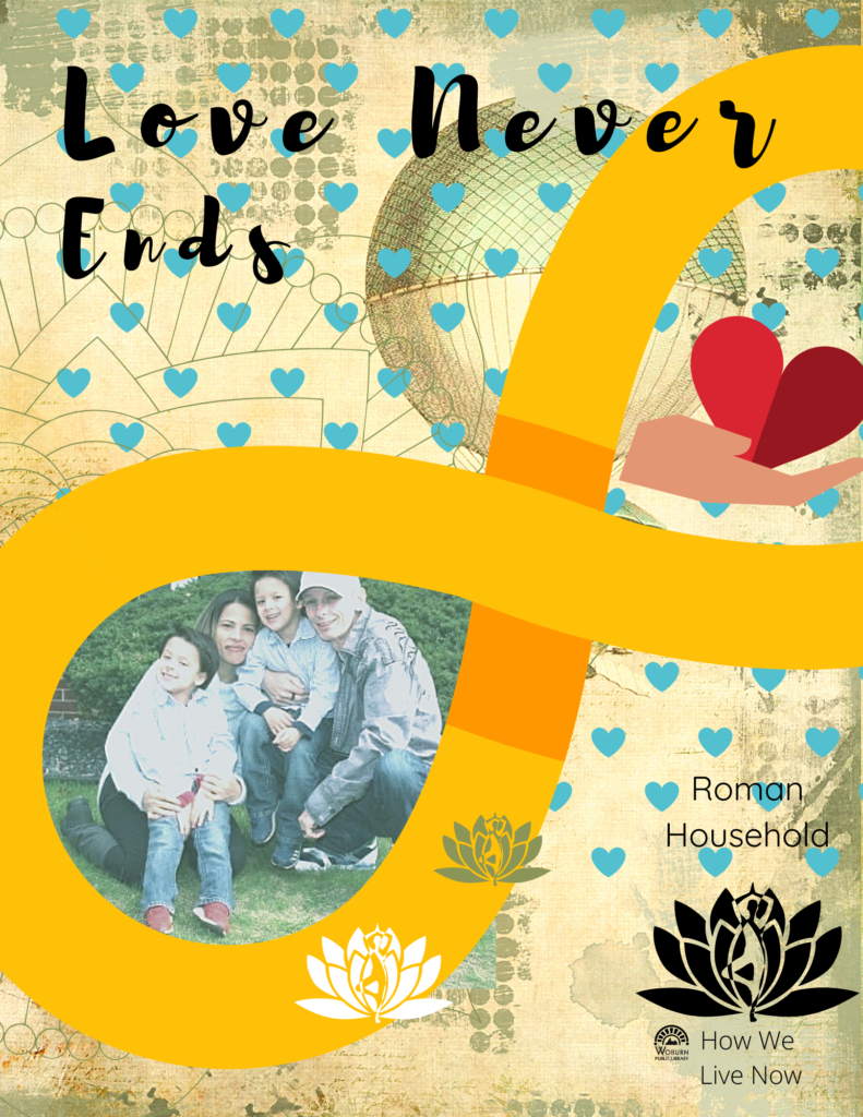 Love Never Ends - Porch Entry thumbnail for 2020 How We Live Now digital scrapbook online exhibition