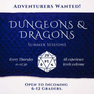 Adventurers wanted for Dungeons & Dragons